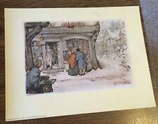 "Anton Pieck Print for Decoupage or Frame: Curiosity Shop ,7"" x 9"""