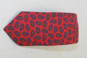 Ted Baker London men's Skinny Raspberry Wool Paisley tie MSRP $95