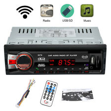 Bluetooth 1 DIN FM Audio Car Stereo Player AUX-IN SD MMC USB MP3 Media Receiver