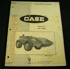 Case Model W12 Unit Loader Tractor Parts Manual Book Catalog List W 12 OEM