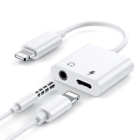 Apple iPhone Splitter Lightning Klinke Aux Audio Adapter Kopfhörer BLITZVERSAND