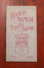 CRAMER MANUAL FOR NEGATIVE MAKING, 64 PAGES/cks/208437