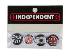 INDEPENDENT SKATEBOARD TRUCK CO' - Pack of 4 badges