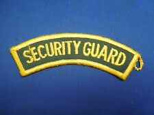Vintage Security Guard Uniform Embroidered Iron On Patch Green and Yellow