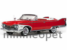 SUN STAR 5402 1960 PLYMOUTH FURY OPEN CONVERTIBLE 1/18 DIECAST VALIANT RED