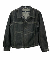 Vintage Marithe Francois Girbaud Jean Jacket Black Denim Men's Size Medium