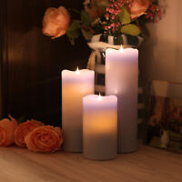Dancing Flame Led Candle with Timer, Blue. Battery Operated Flameless Candle