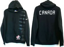 Nike Team Canada Hockey Fleece Pullover Hoodie Men's Medium Black Sweatshirt