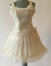 Vintage Original Tagged REMCO Libby Littlechap White Doll Dress w/ Lace Clothes