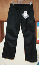 NWT DC SHOES CONTOUR 14 SNOWBOARDING PANTS YOUTH SMALL BLACK FREE SHIPPING