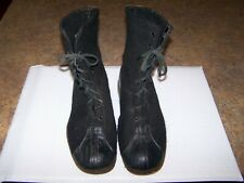 Biltrite Black Military Boots Men's Vintage Wwii Era Wool Felt Size 11
