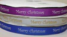 Merry Christmas printed festive grosgrain ribbon xmas decorative gift wrapping