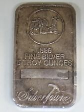 Silver Towne 5 Troy Ounce Fine Silver Bar Free Shipping