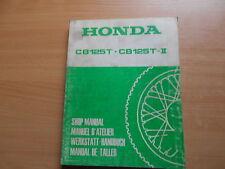 Werkstatthandbuch shop manual de taller Honda CB 125 T / CB 125 T-II