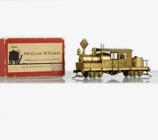 """WMC HO H0 BRASS 2-Truck Climax Class """"A"""" Steam Locomotive w/ Horizontal Boiler"""