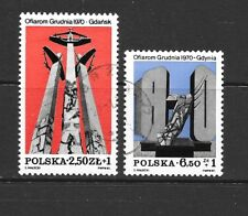 1981 Poland full set 2 stamps Memorials to Victims of 1970 Uprisings CTO