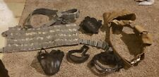 airsoft gear molle chest rig, anti-fog goggles, mesh face shield, gloves, belt