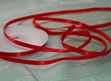 Ribbon Satin  Red - 6mm x 30 metres