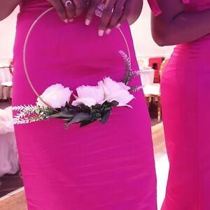 Wedding Bouquet Posy, bridesmaid hoop, bridesmaid flower, wedding flower