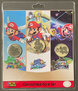 Nintendo Super Mario 3D All Stars Collectible Coin Set (3) Brand New Authentic