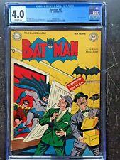 BATMAN #53 CGC VG 4.0; OW; classic Joker story! scarce!