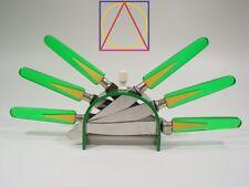 ART DECO green two tone BAKELITE FRUIT KNIVES SET GERMAN modernism flatware