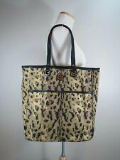 Tory Burch Animal Print Shoulder Bag Large Purse Market Tote Shopper Travel Work