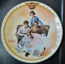 Norman Rockwell Antique Collectible Plate Taking Mother Over The Top, No Chips