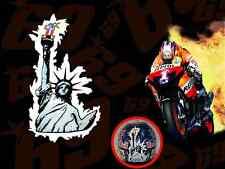 Nicky Hayden MotoGP World Champ #1 Statue of Liberty helmet MotoGP decal sticker