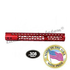 "15"" AIR LITE RED KEYMOD FREE FLOATING HANDGUARD WITH MONOLITHIC RAIL (.308 CAL)"