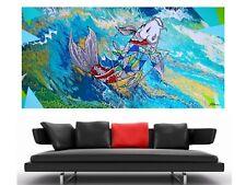 WEISE XXL Acryl BILD Abstrakt Gemälde Leinwand 75 x 150 auf Keilrahmen Nr.37/21