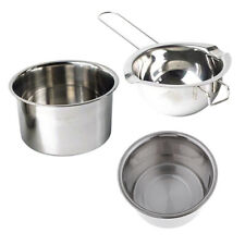3x Stainless Steel Wax Melting Candle Pot for DIY Soap Making Resin Casting Tool