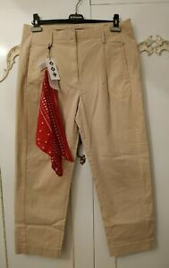 Tommy Hilfiger Ladies Stretch Beige Cargo Chino Pants Trousers Size UK 12 NWOT