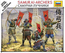 Zvezda Models 1/72 (Snap-Fit) Samurai-Archers (4 Japanese Figures)