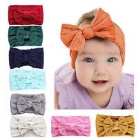 8PCS Baby Bow Headband Girl Infant Toddler Newborn Soft Knot Turban Hair Wrap