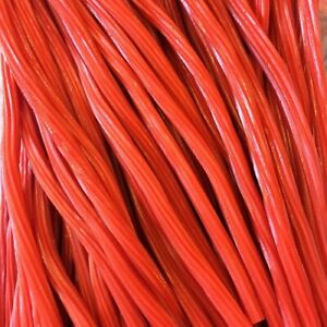 Strawberry Lances Red Liquorice Style Cable Sweets Vegetarian