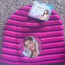 Disney Violetta Girls Baenie Hat Warm Winter Pink Stripes New Tags