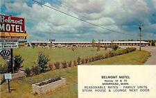 Moorhead Minnesota~Belmont Motel~Was Bossart's~Neon Sign~1966 Postcard