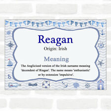 Reagan Name Meaning Nautical Certificate