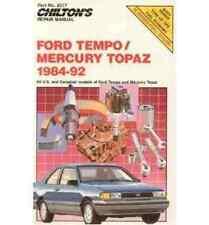 Chilton's Repair Manual  Ford Tempo/Mercury Topaz 1984