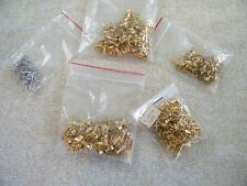 (400)+ GOLD / SILVER TONE PINCH BAILS ~ JEWELRY FINDINGS