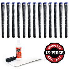 13 Winn Dri-Tac Midsize +1/16 Dark Gray-Golf Grip Kit FREE tape,solvent, & clamp