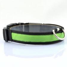 USB Rechargeable Pet Collar LED Light Flashing Band Nylon Dog Cat Safety Belt