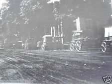 RPPC DIRT STREET LINED WITH HORSE & BUGGYS & CARRIAGES! REAL CYKO PHOTO POSTCARD