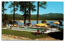 1950s/60s Lagonita Lodge on Big Bear Lake, CA Postcard