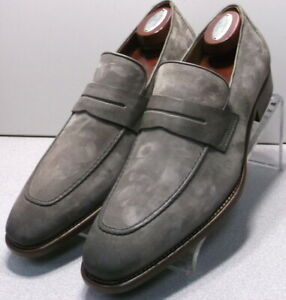 242059 MSi60 Men's Shoes Size 10.5 M Gray Suede Made in Italy Johnston Murphy