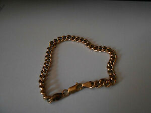 9ct Gold CURB  Bracelet REALY NICE CHUNKY 6G