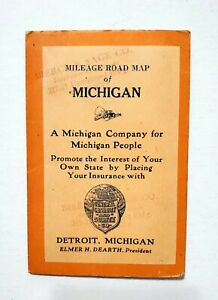1924 Mileage Indexed Road Map of Michigan, General Casualty and Surety Co.