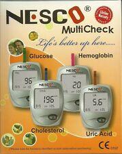Nesco Multicheck Glucose,Uric acid and Cholesterol Meter Test kit