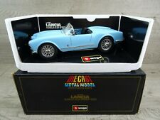 Burago Lancia Aurelia B24 Spider (1955) Blue Diecast Model Car 1/18 Scale Boxed